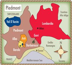 Image result for piedmont wine region