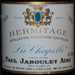 Image result for 1989 Jaboulet Hermitage La Chapelle