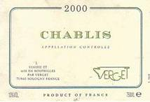 Image result for 2000 Verget Chablis