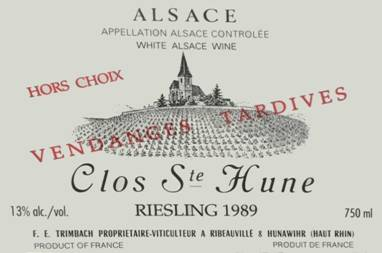 Image result for Trimbach Clos St Hune vendanges tardive