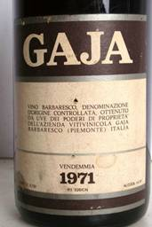 Image result for 1971 Gaja Barbaresco