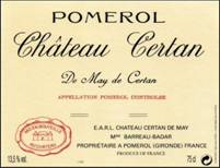Image result for 1985 Chateau Certan De May Pomerol