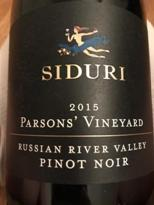 Image result for Siduri Pinot Noir Parsons Vineyard Russian River Valley 2014