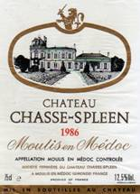 Image result for 1986 Chateau Chasse Spleen Moulis