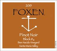 Image result for Foxen Pinot Noir  Block 8 Santa Maria Valley 2015