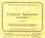 Image result for 1975 Chateau Trotanoy Pomerol