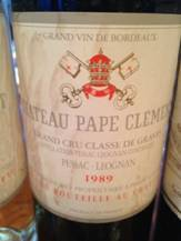 Image result for 1989 Chateau Pape Clement Pessac Leognan