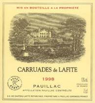 Image result for 1998 Carruades de Lafite Pauillac