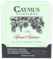 1989 Caymus Cabernet Sauvignon Special Select Napa torn label image