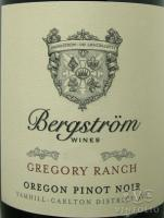 2015 Bergstrom Pinot Noir Gregory Ranch Willamette Valley image