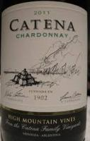 2015 Catena Chardonnay High Mountain Vineyards Mendoza image