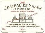 2018 Chateau De Sales Pomerol - click for full details