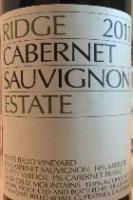 2013 Ridge Cabernet Sauvignon Estate Santa Cruz Mountains image