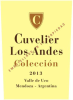 2013 Cuvelier de Los Andes Malbec Colleccion Mendoza - click image for full description